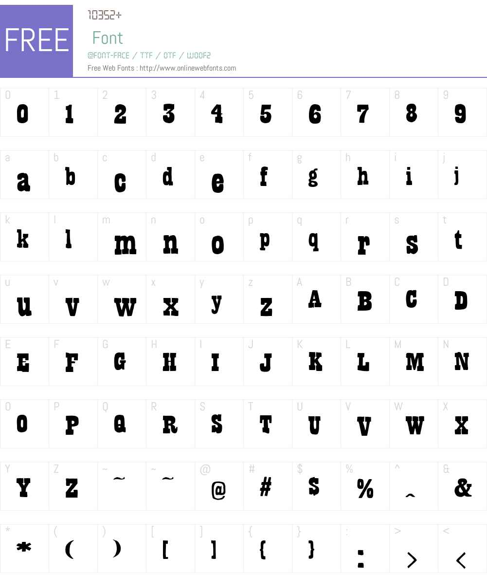 BandoliersW00-Shaved Font Screenshots