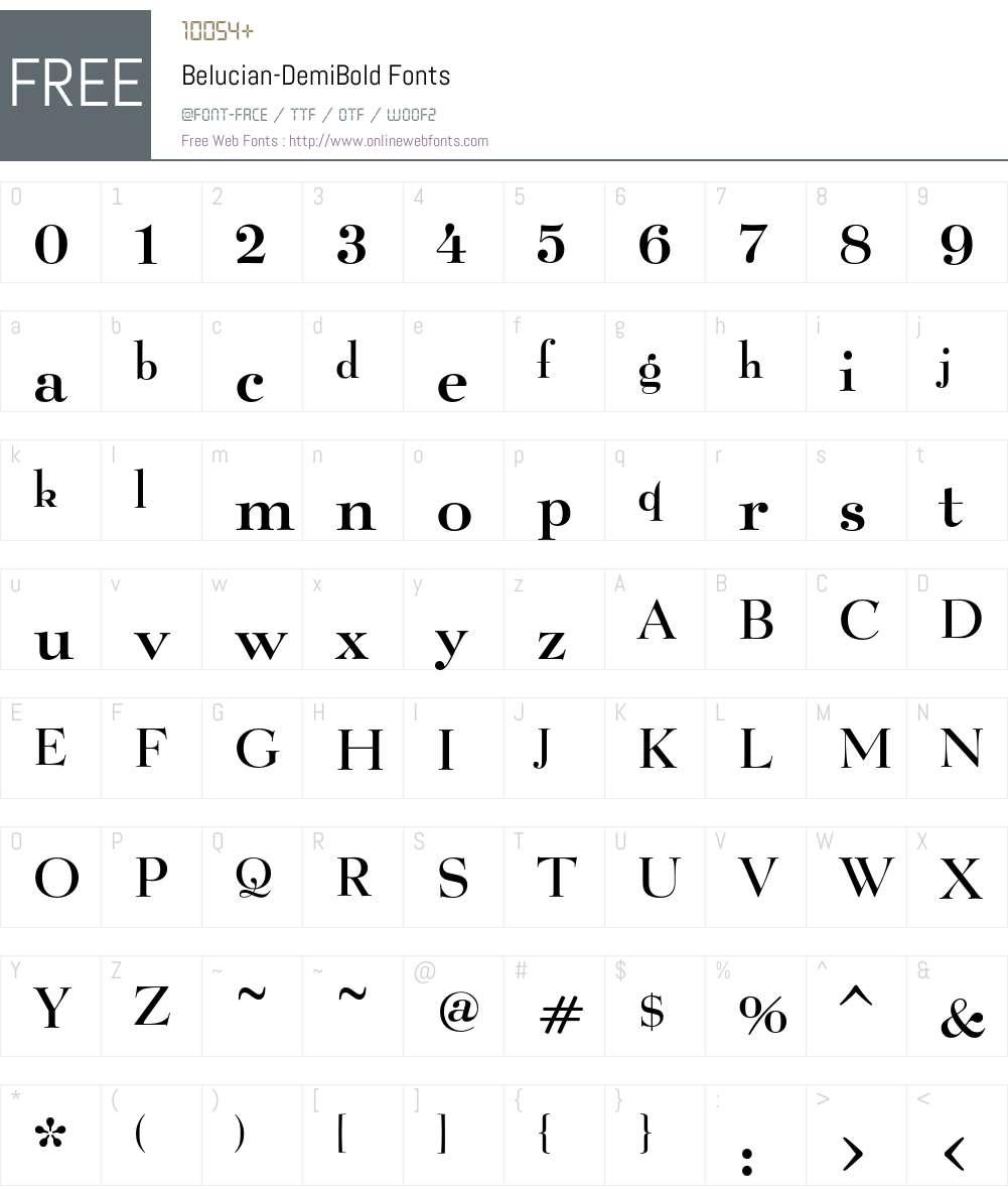 Belucian Font Screenshots