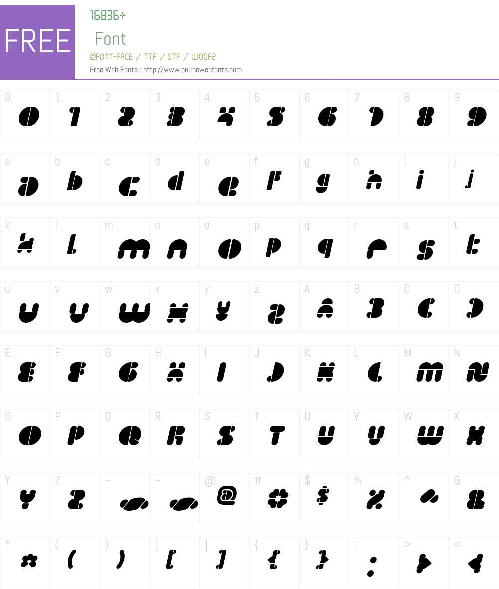 IMPULSE OF HEART Font Screenshots