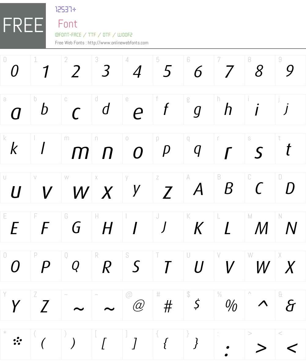 Dax Font Screenshots