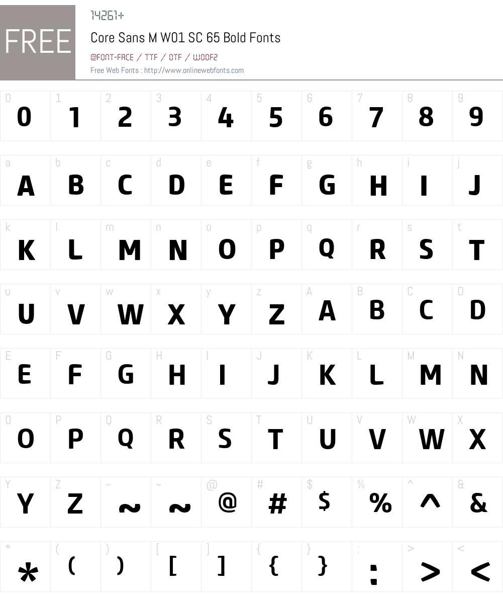 CoreSansMW01-SC65Bold Font Screenshots