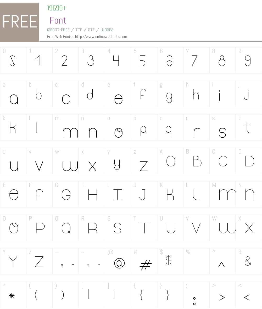 Thinfont Font Screenshots