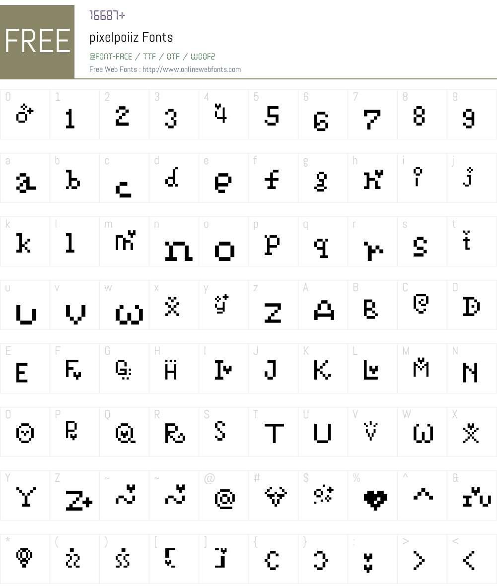 pixelpoiiz Font Screenshots