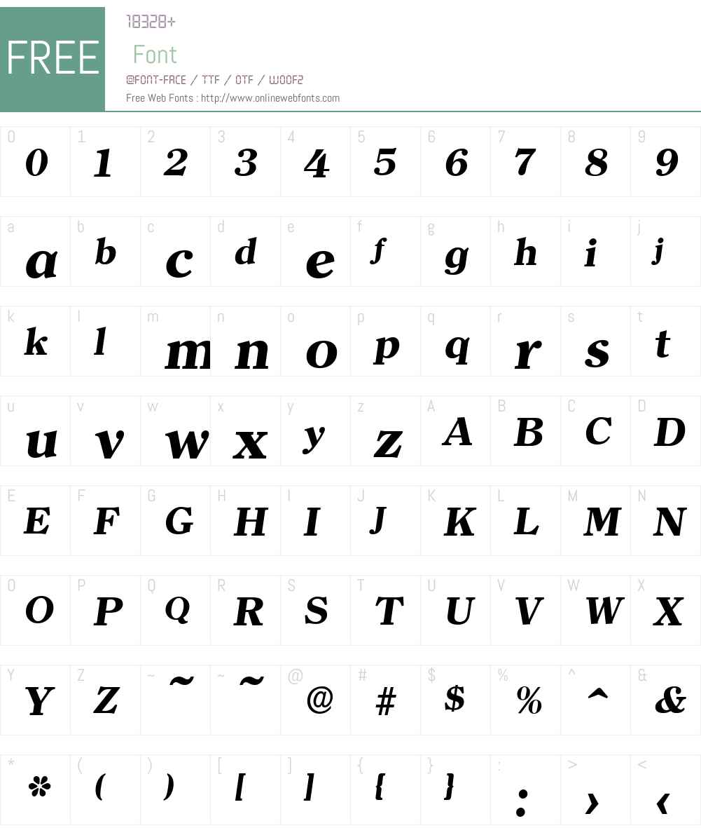 ClearfaceSerial-Xbold Font Screenshots