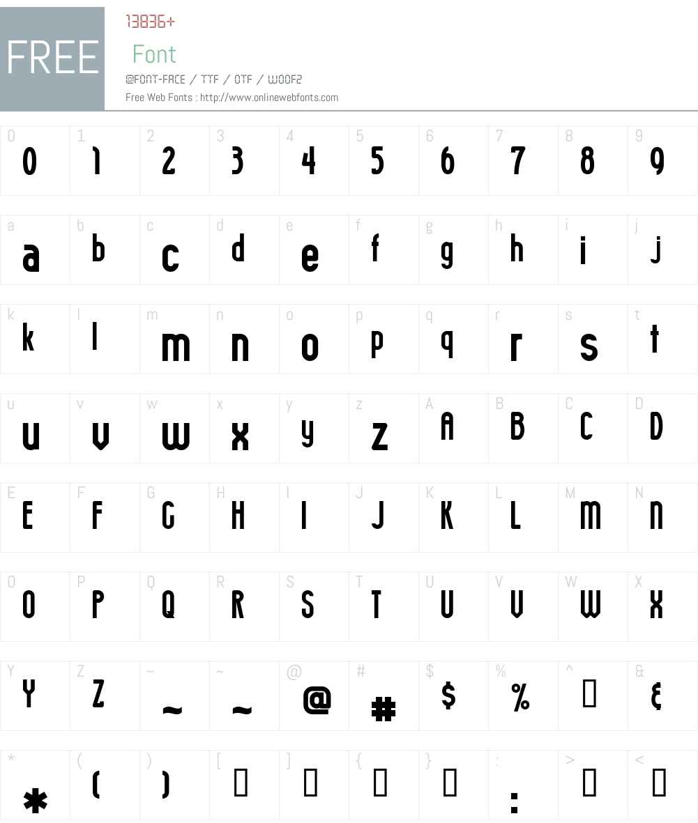 Smokey Font Screenshots