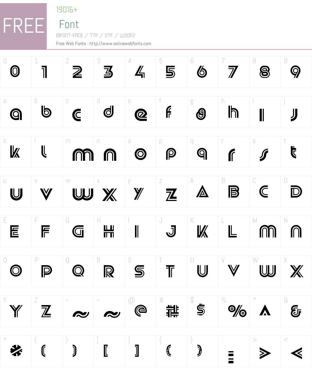 SlugDoubleW00-Regular Font Screenshots