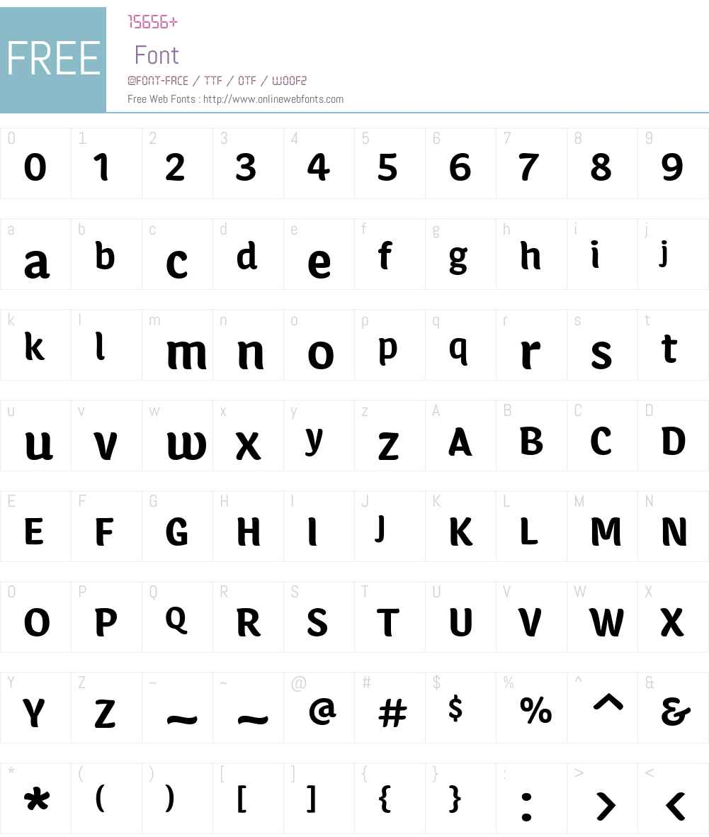 Calcine Font Screenshots