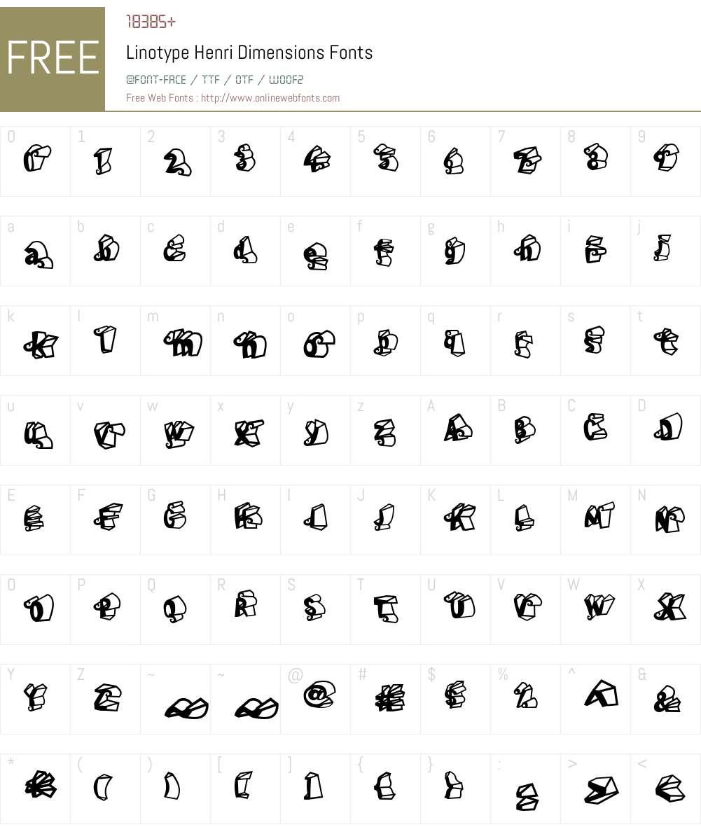 LTHenri Dimension Font Screenshots