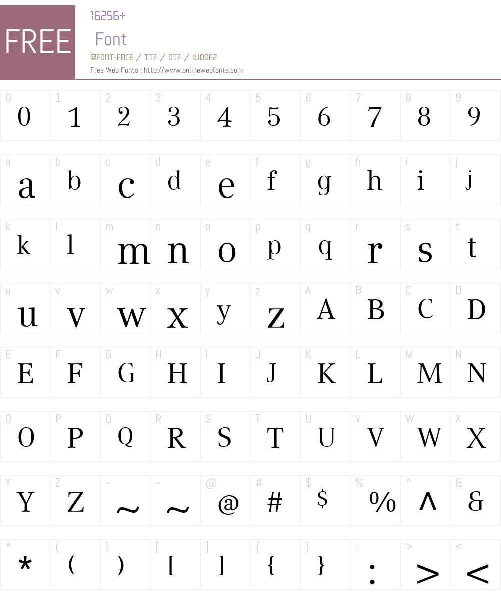 CompatilTextLTW01-Regular Font Screenshots