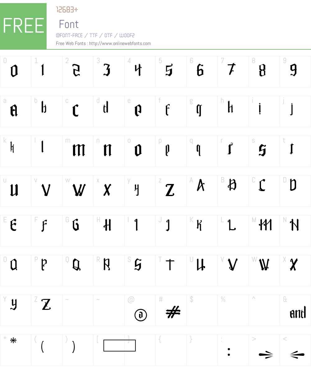 Rakitikar Font Screenshots