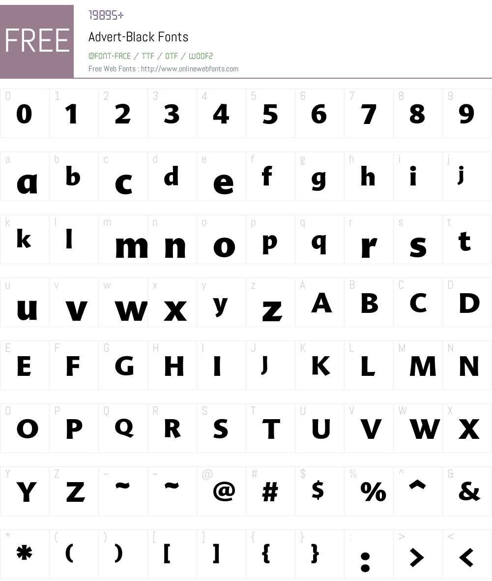 Advert-Black Font Screenshots