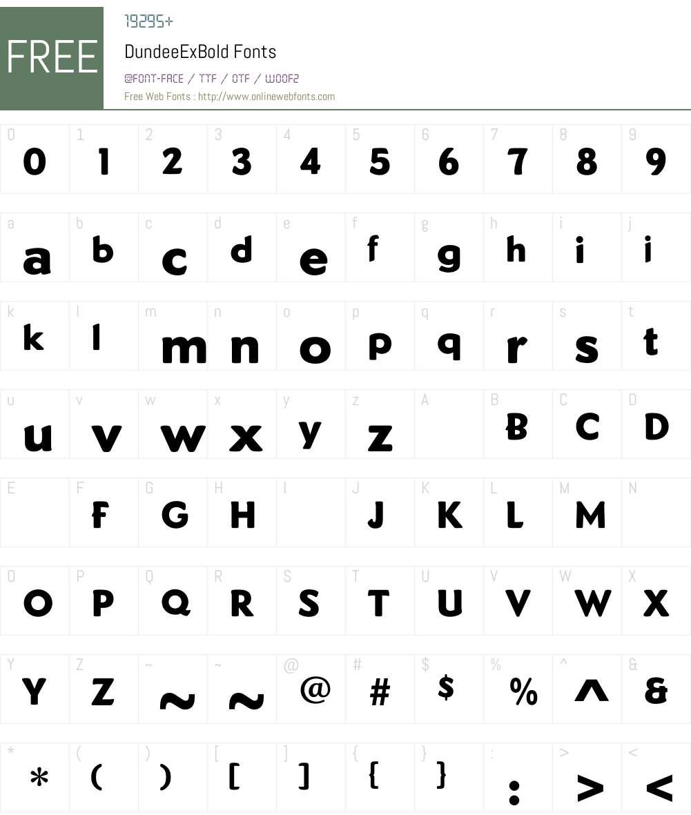DundeeExBold Font Screenshots