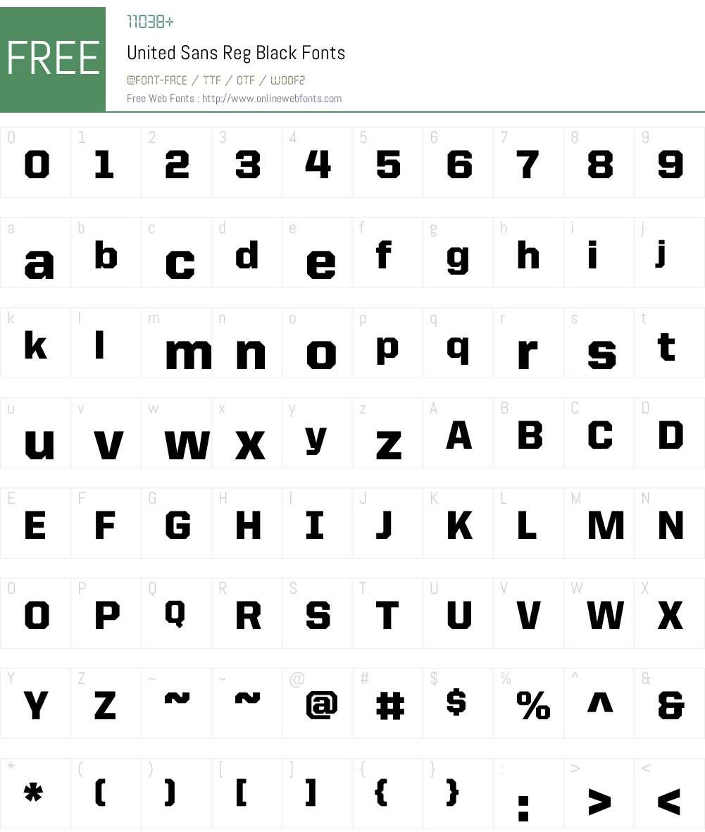 United Sans Reg Font Screenshots