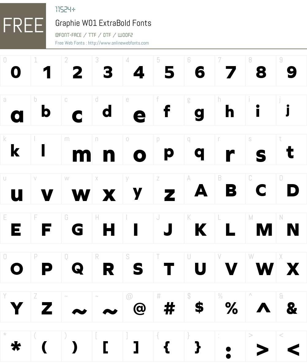 GraphieW01-ExtraBold Font Screenshots