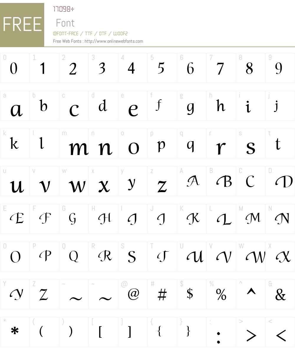 MirandolinaW01-CalligrTwo Font Screenshots