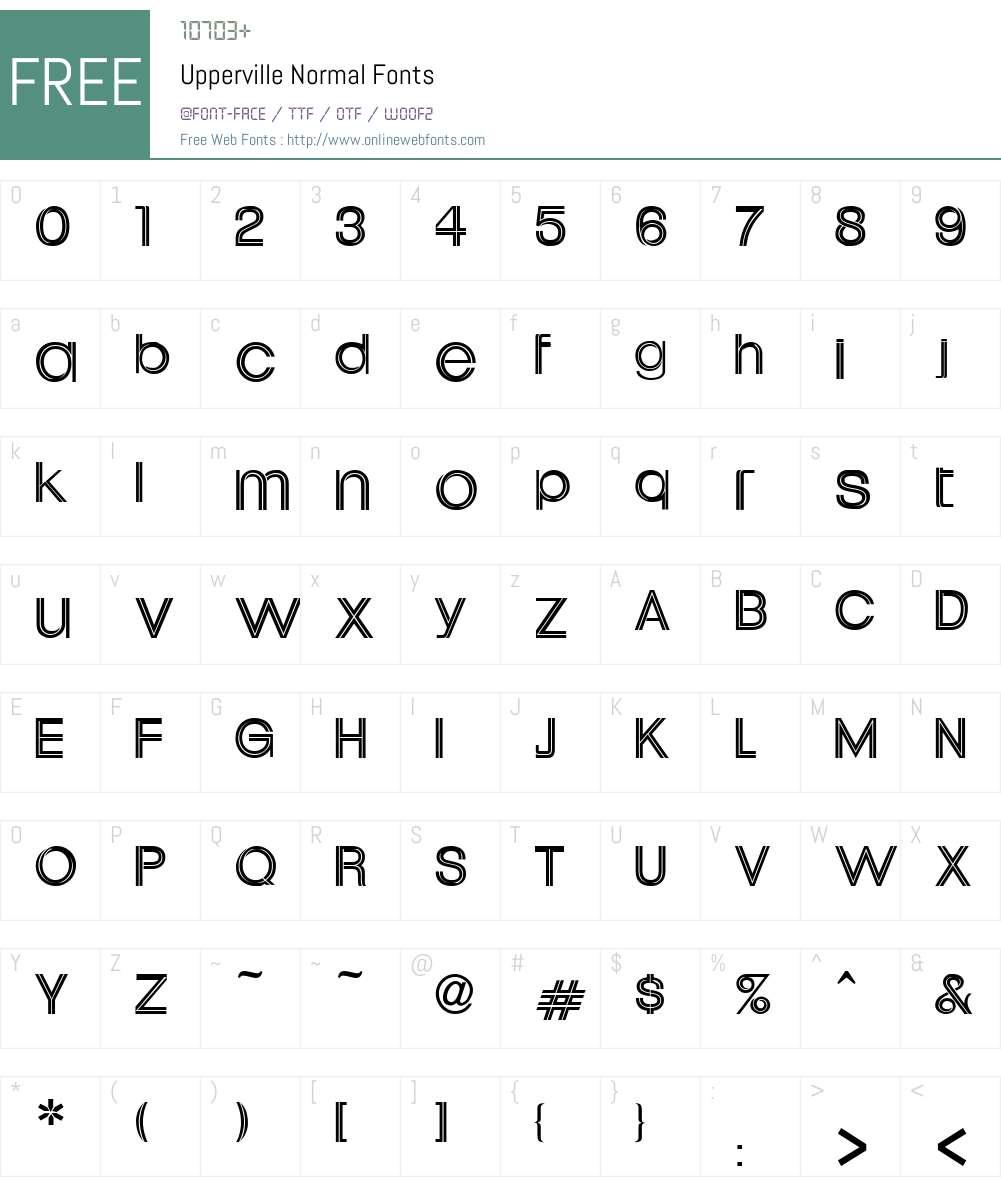 Upperville Font Screenshots