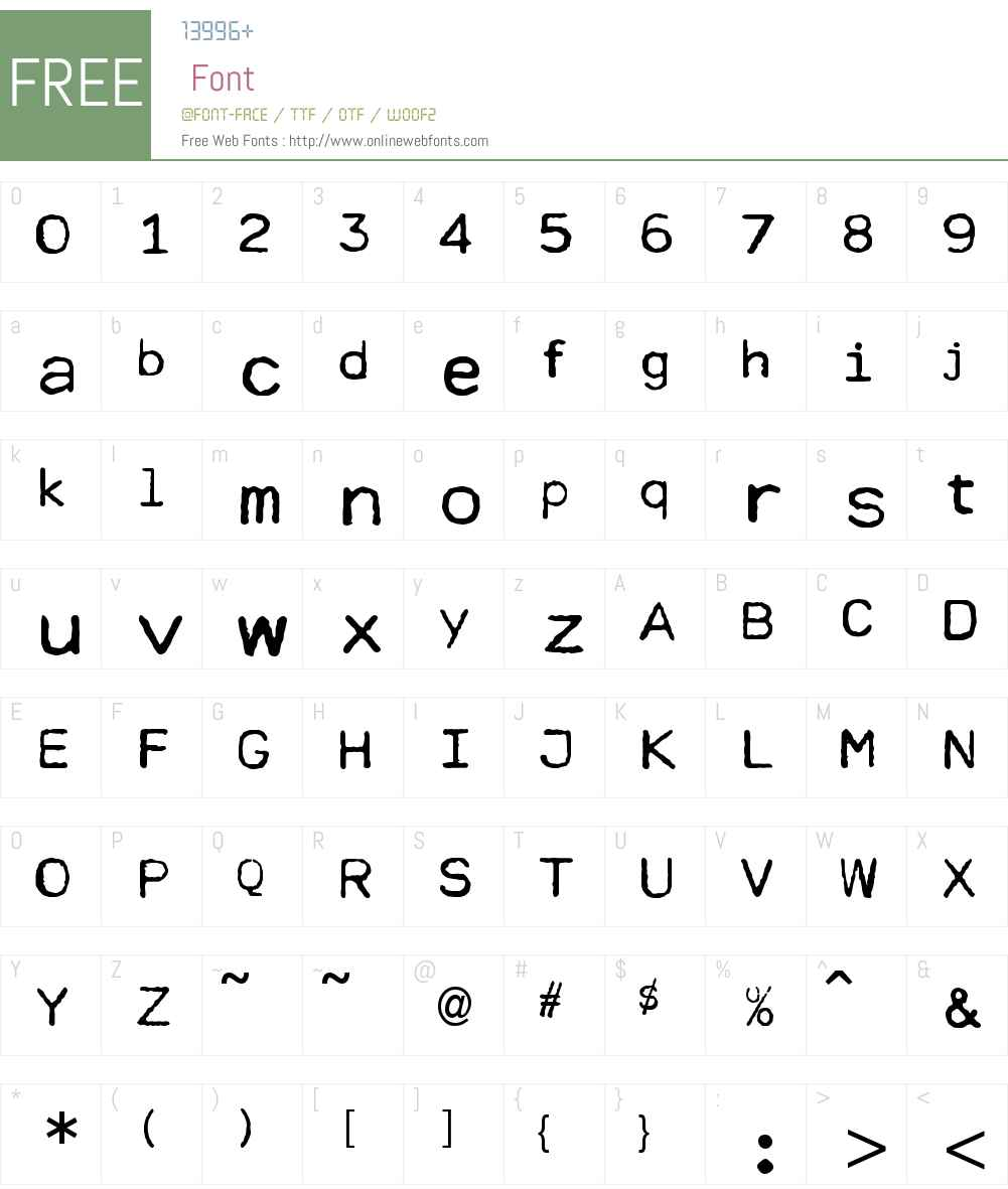 Cella Font Screenshots