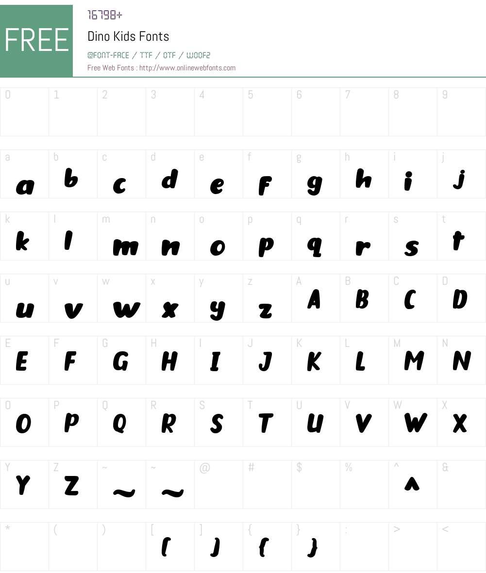 Dino Kids Font Screenshots