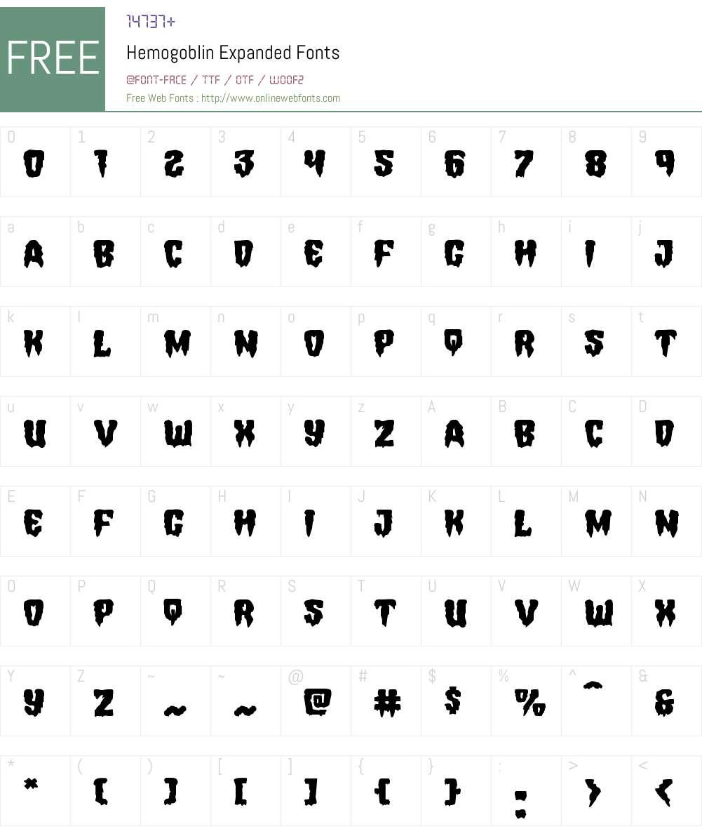 Hemogoblin Expanded Font Screenshots