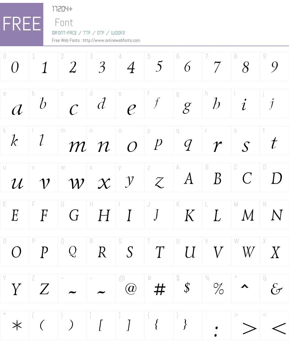 LazurskiW01-LightItalic Font Screenshots