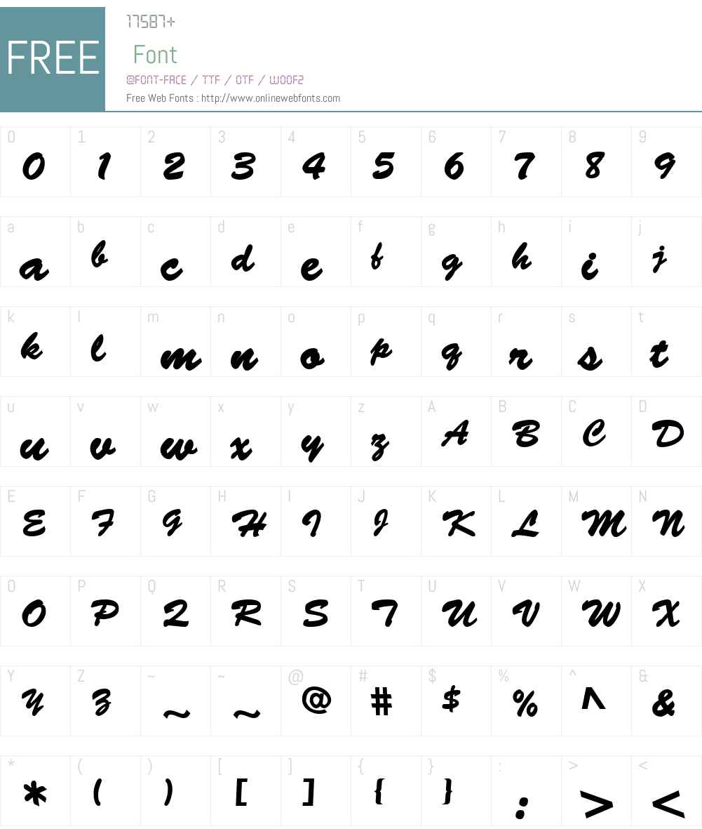 Banty S Font Screenshots