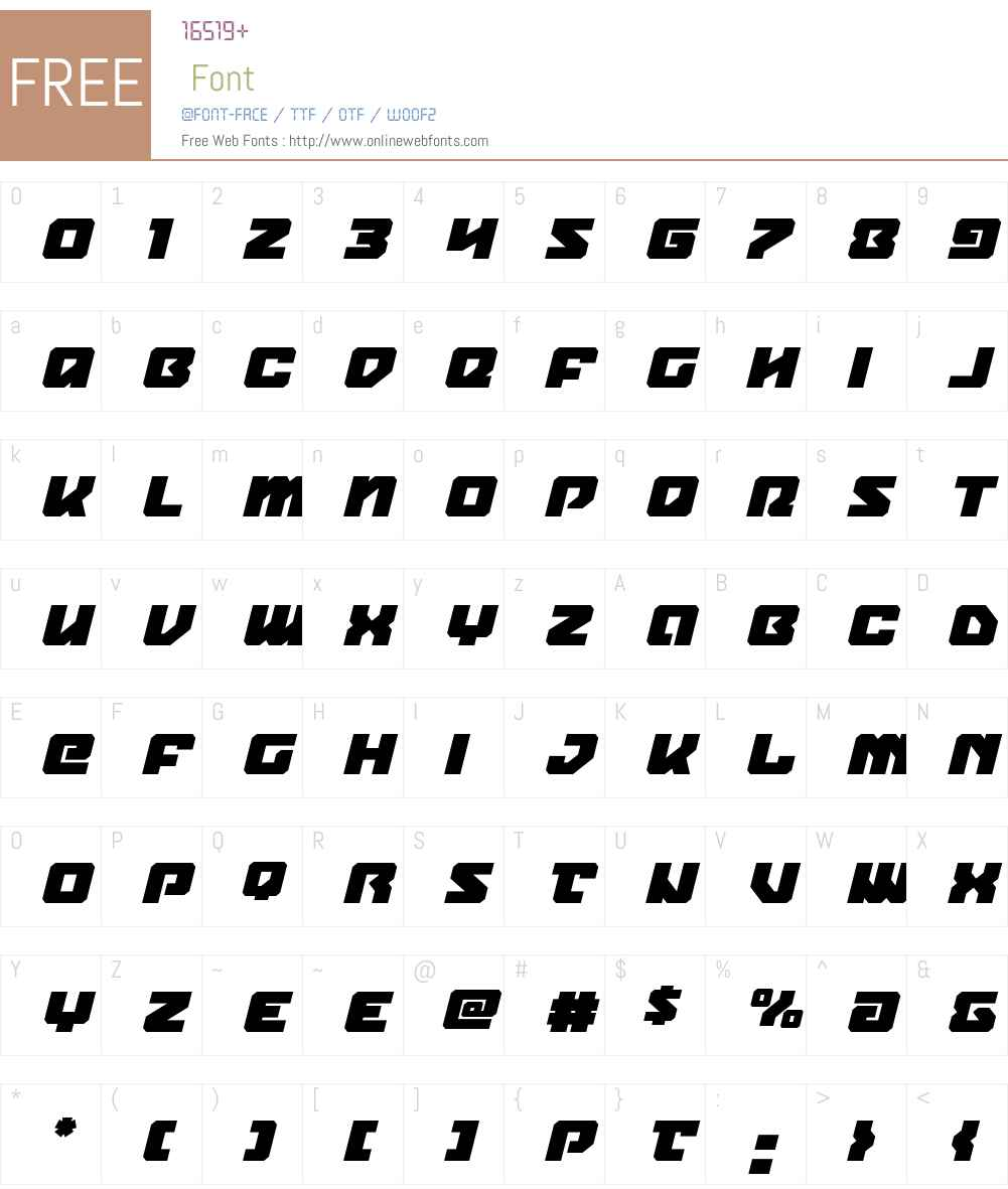 Legacy Cyborg Title Italic Font Screenshots