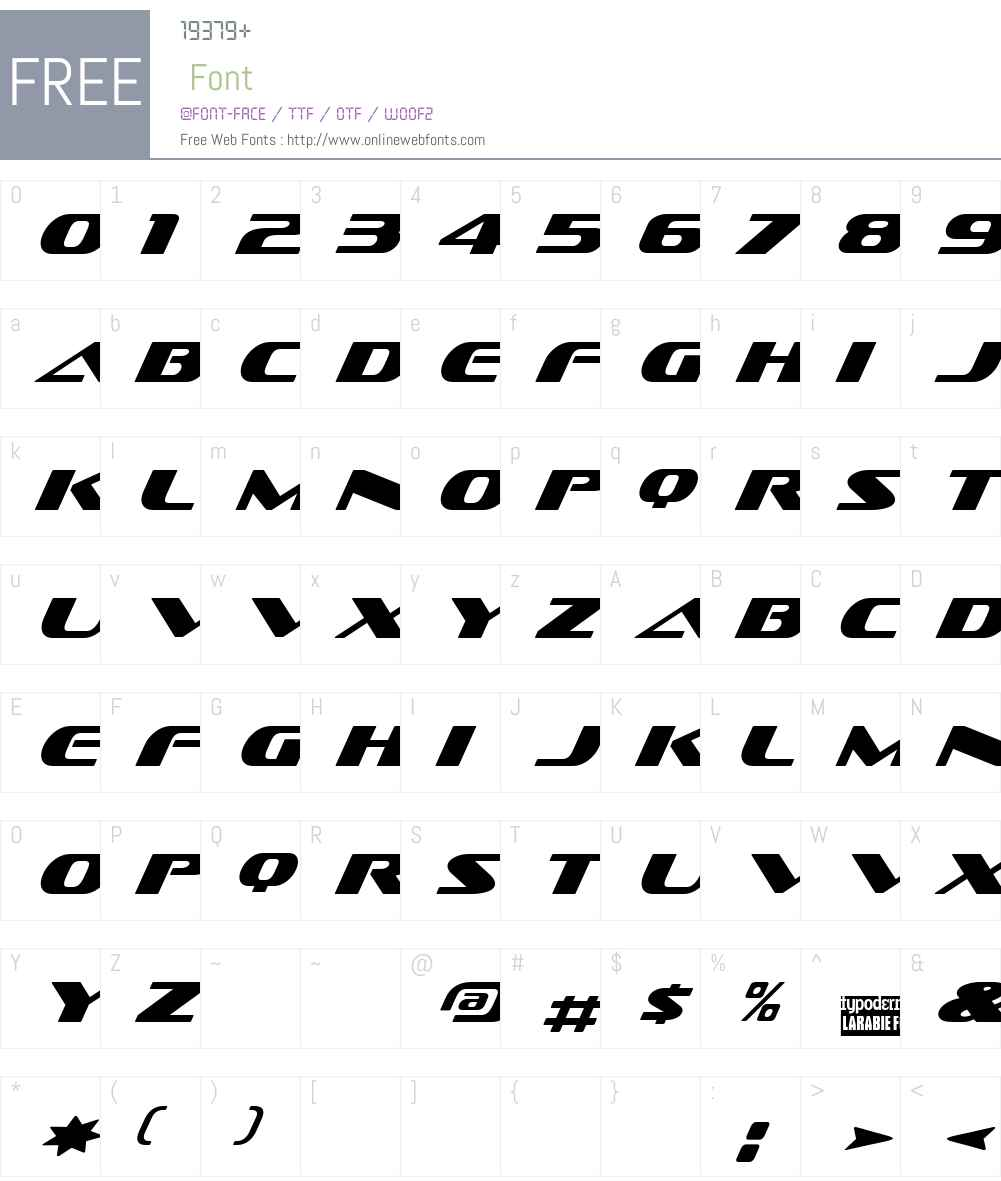 Sofachrome Font Screenshots