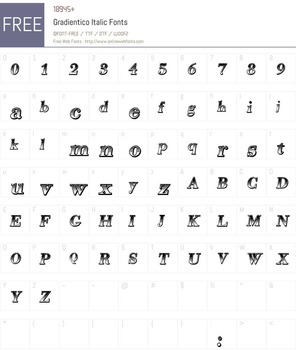 Gradientico Font Screenshots