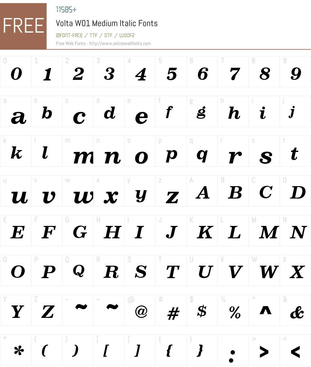 Volta Font Screenshots