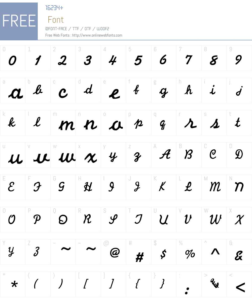 LHF Cosmic Cursive Font Screenshots