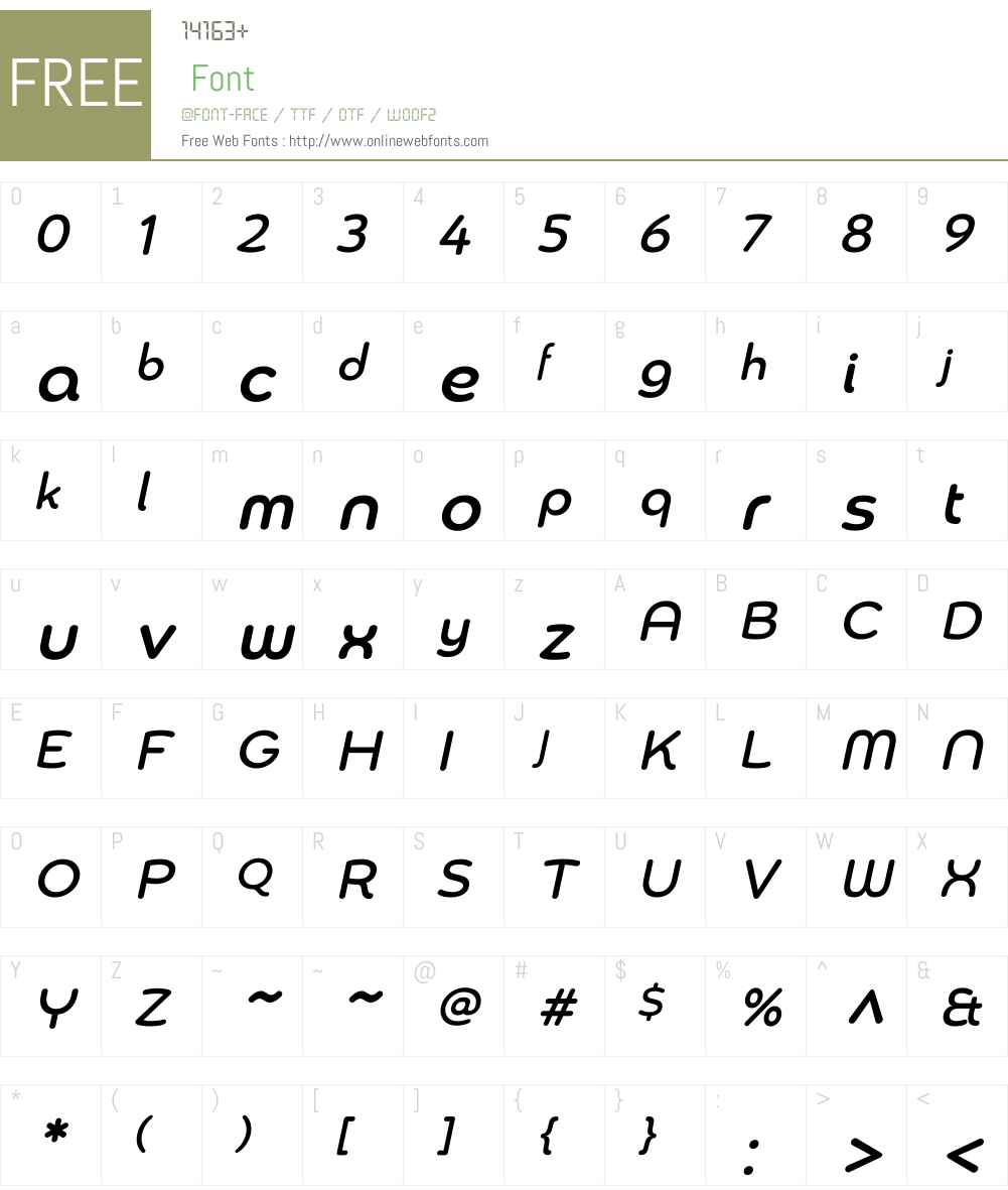 Chennai Medium Oblique Font Screenshots