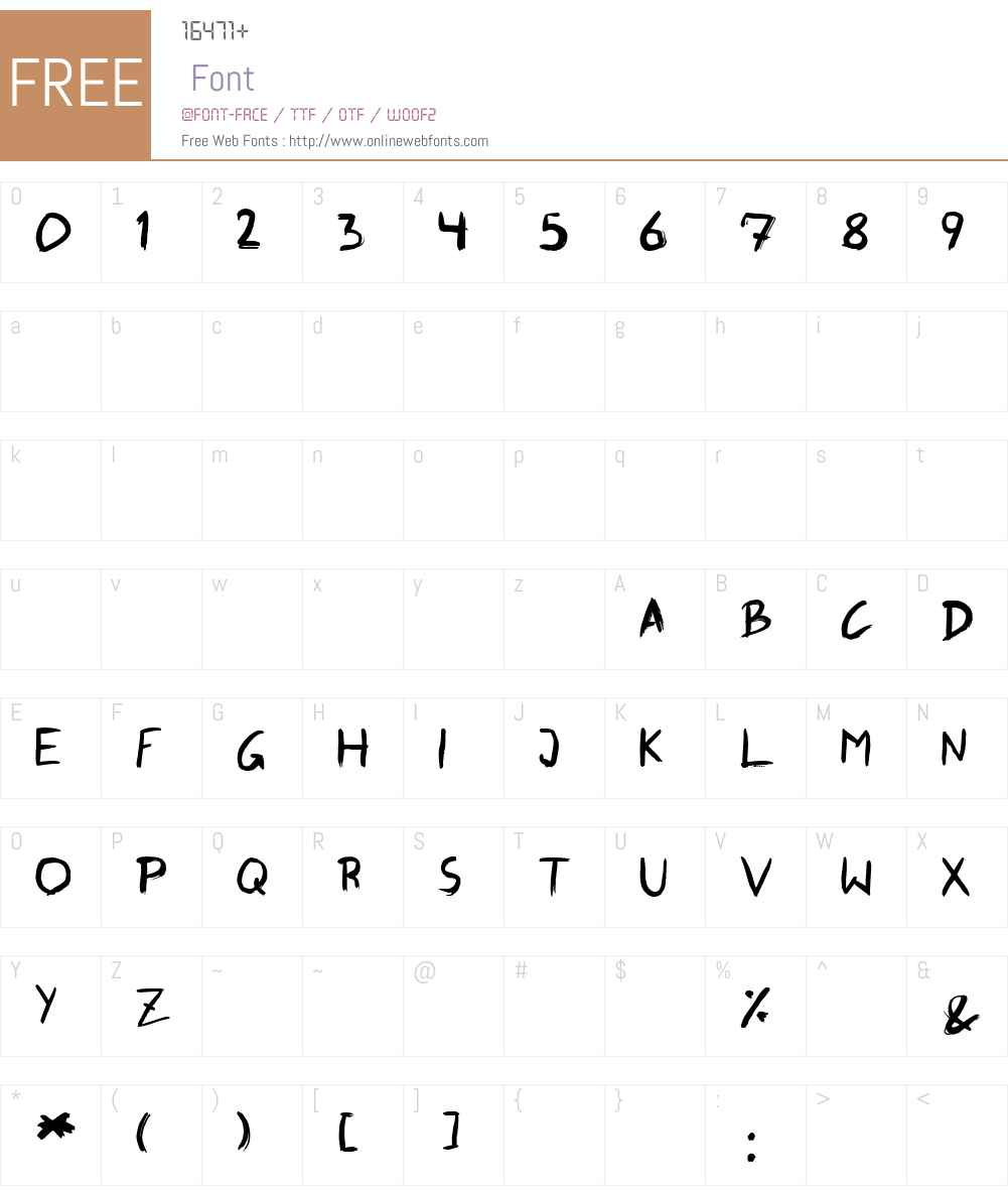 SkippingBrush Font Screenshots