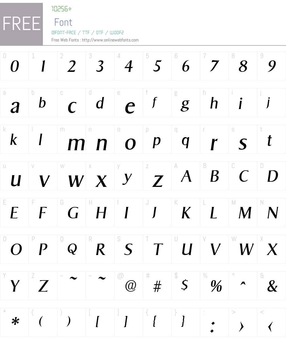 Sigvar-Serial DB Font Screenshots