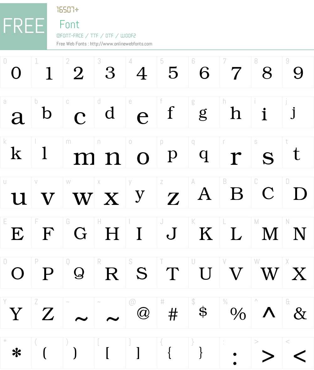 KacstBook Font Screenshots