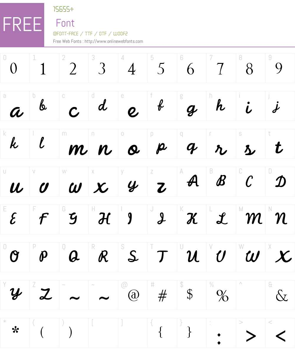 Balistika Font Screenshots