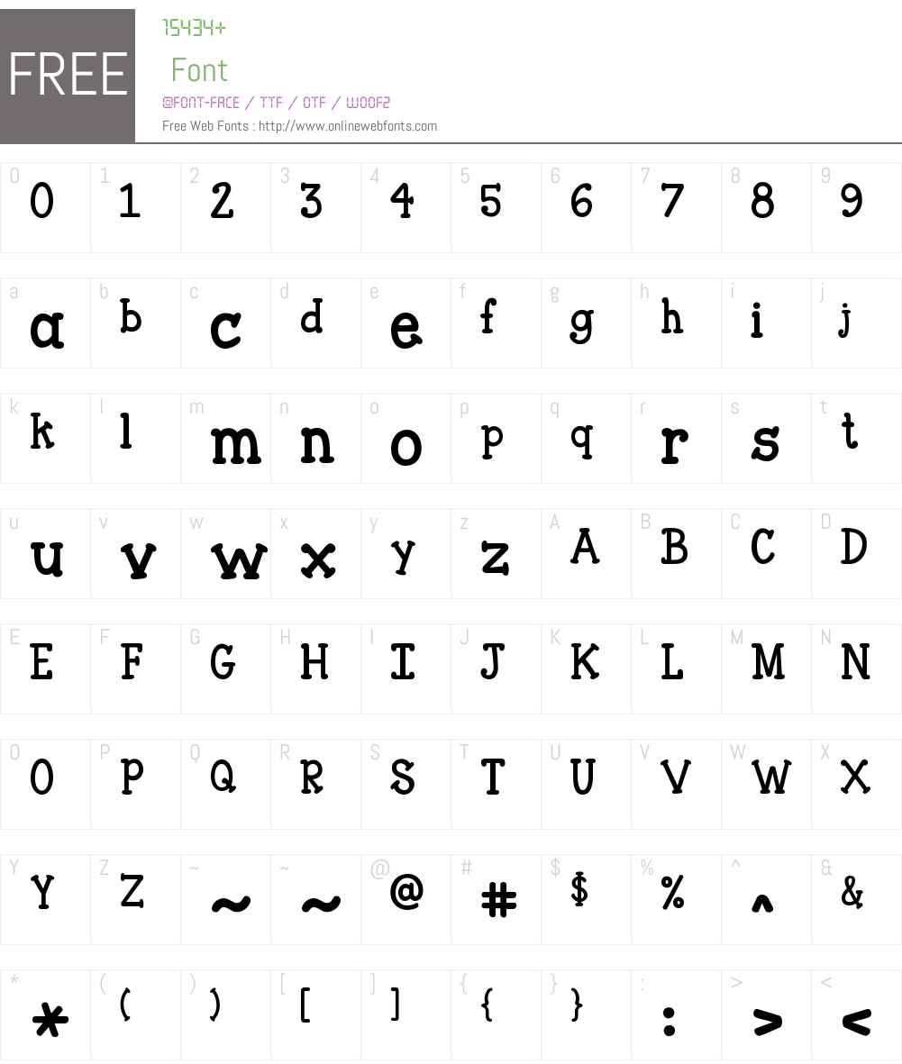 Janda Closer To Free Font Screenshots