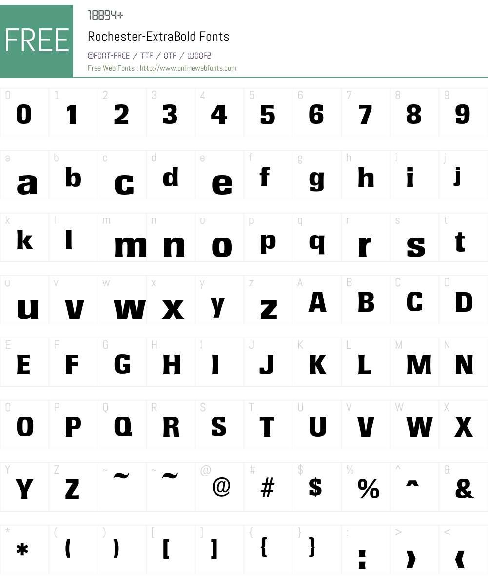 Rochester-ExtraBold Font Screenshots