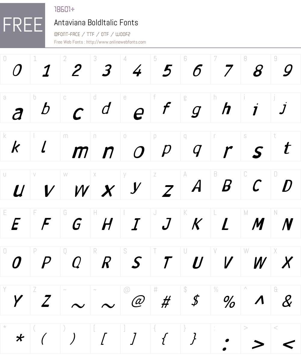 Antaviana Font Screenshots