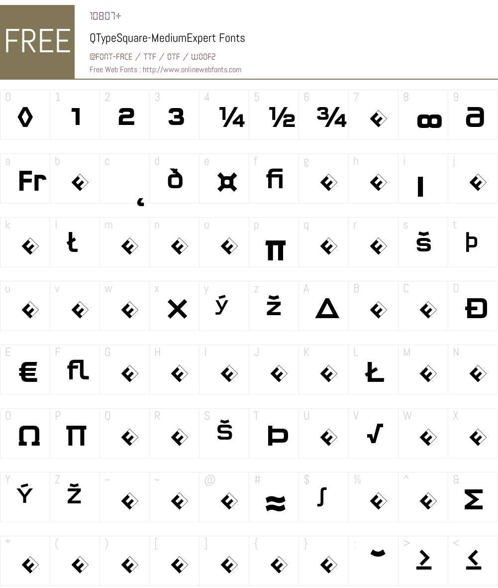 QTypeSquare-MediumExpert Font Screenshots