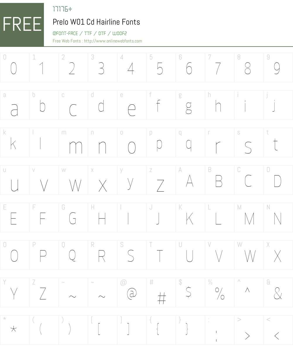 PreloW01-CdHairline Font Screenshots