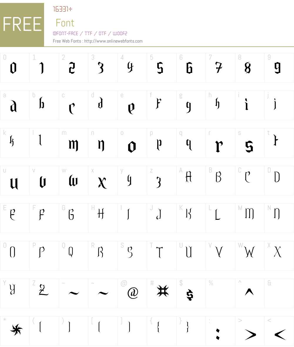 Endor Font Screenshots