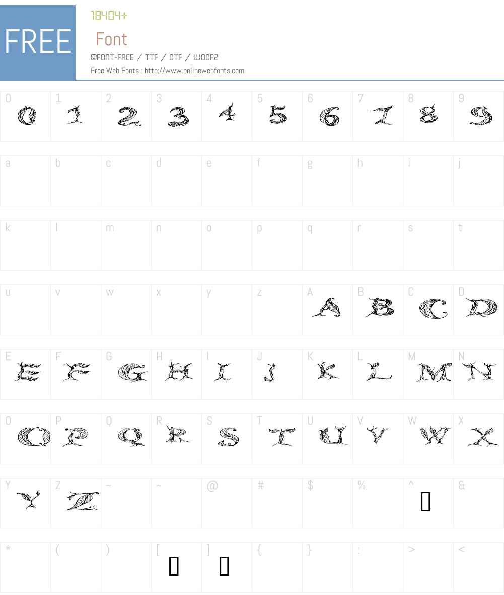 CF Tree of Life Wide Font Screenshots