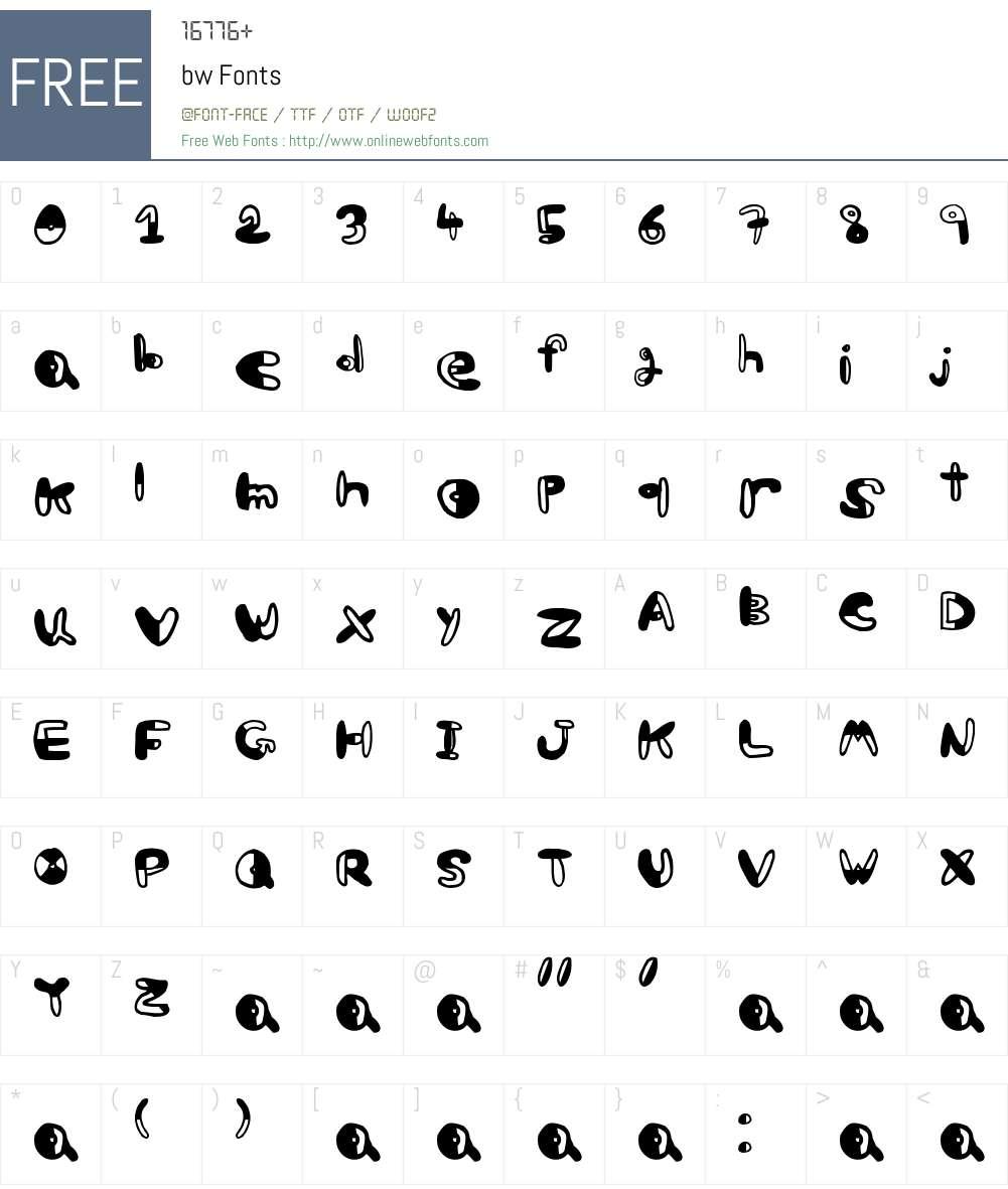 bw Font Screenshots
