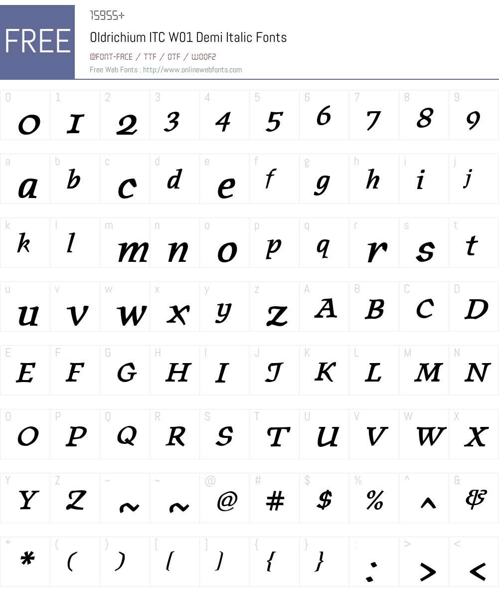 OldrichiumITCW01-DemiIt Font Screenshots