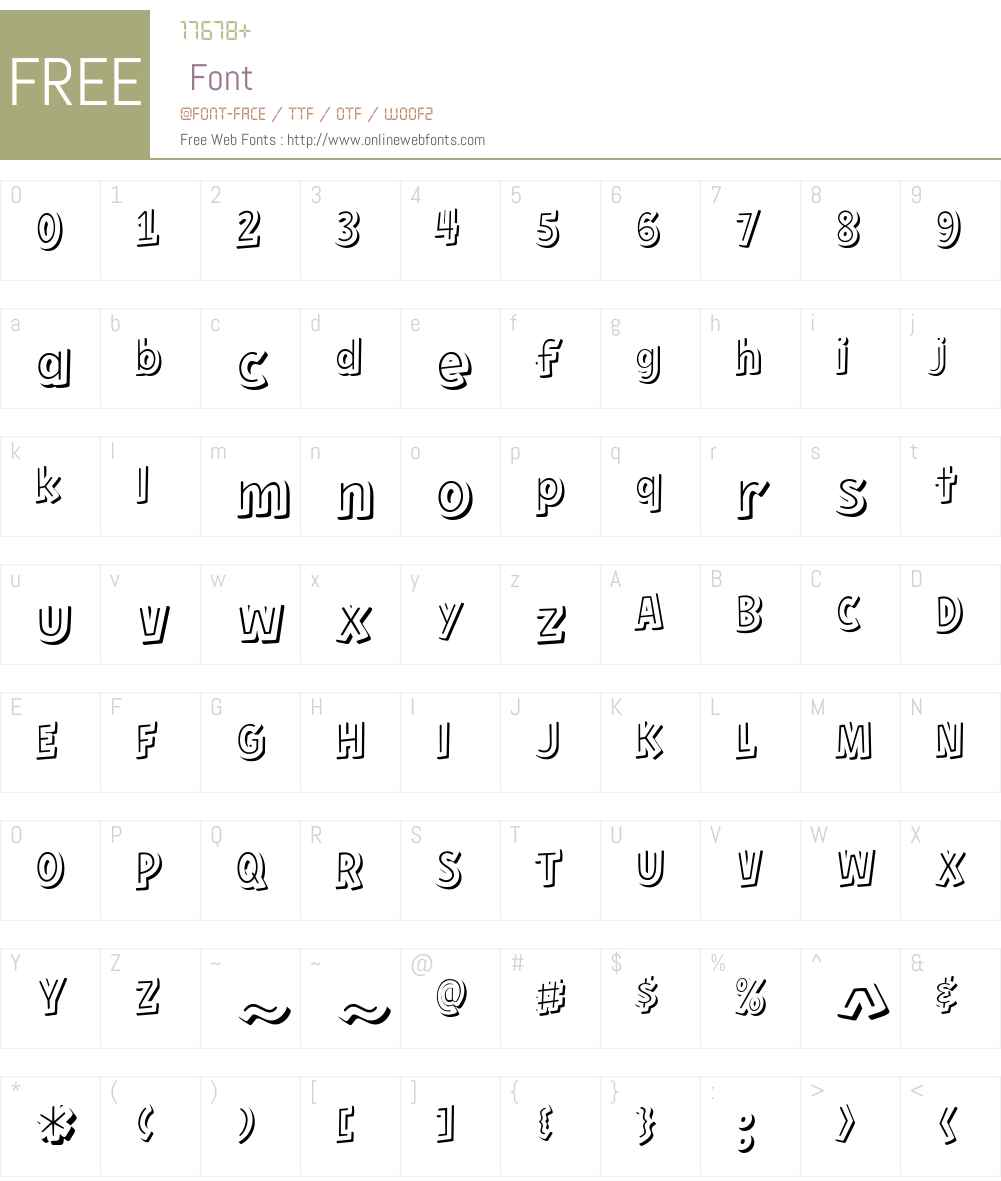 Hero Sandwich Combos Font Screenshots