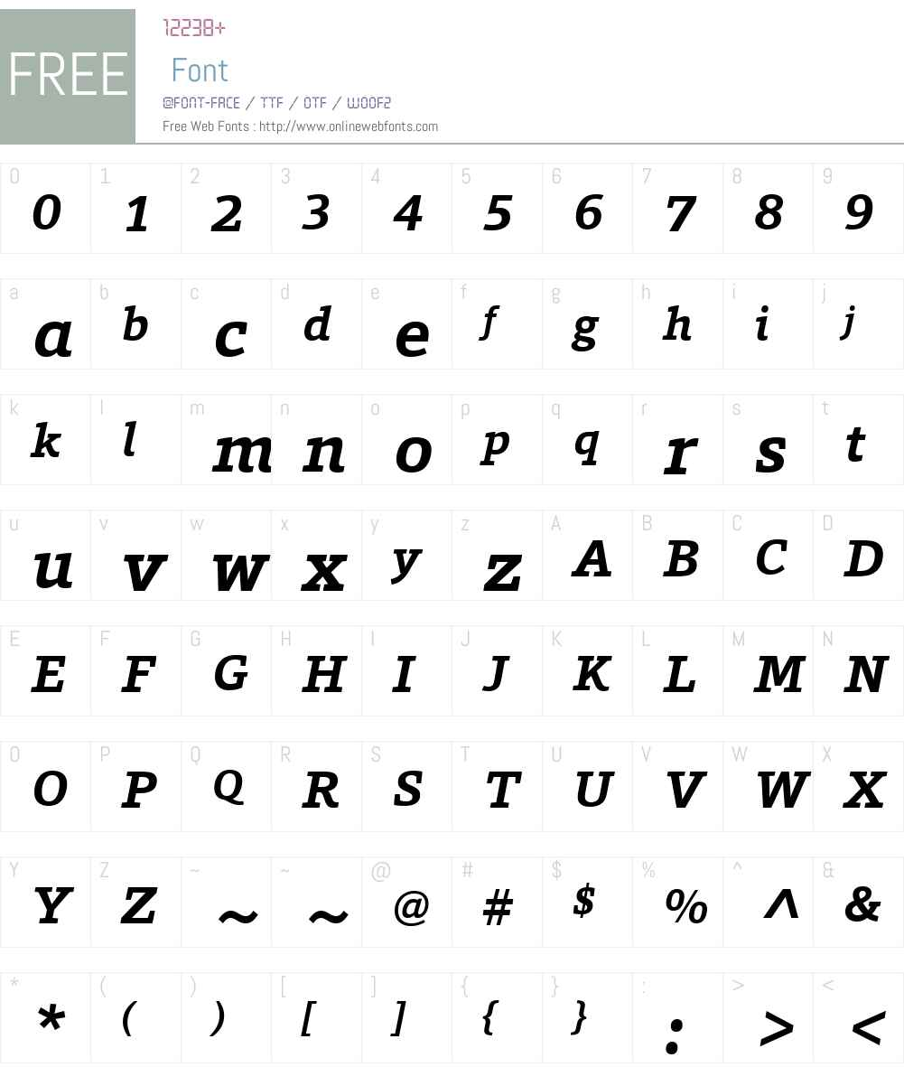 ForoW01-BoldItalic Font Screenshots