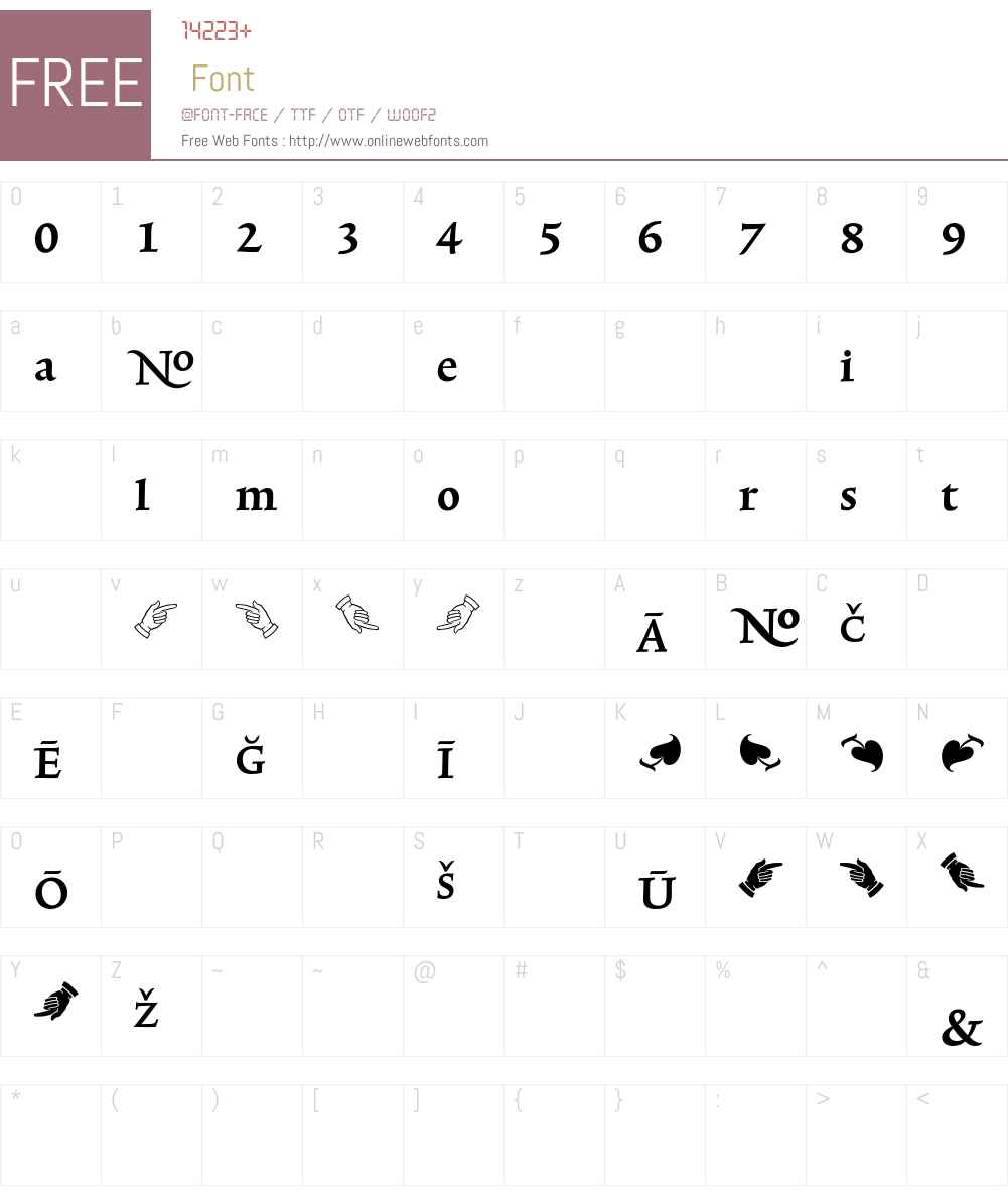 TriniteNo2 Font Screenshots