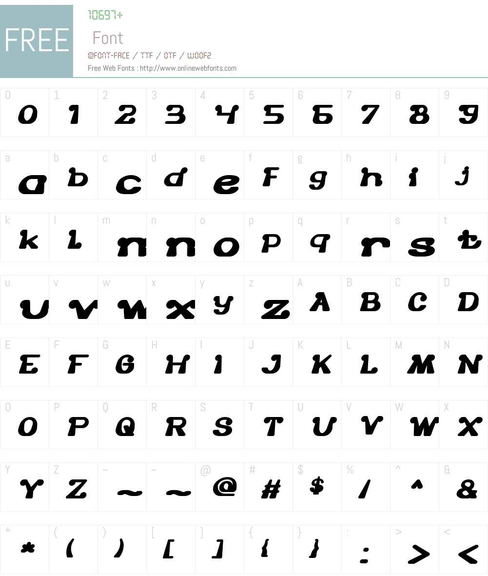 The One and Only Font Screenshots