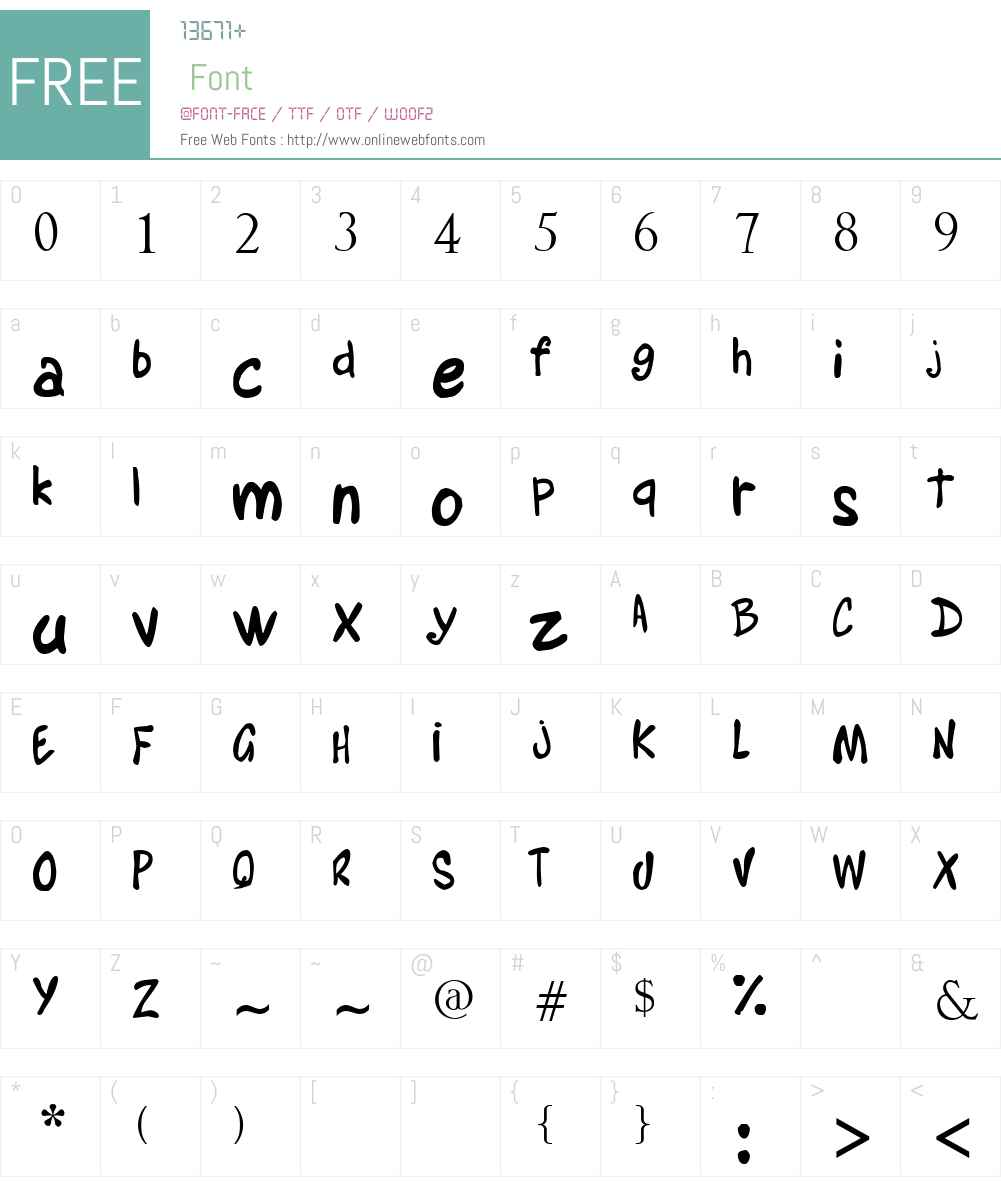 Alyssa Martinel Font Screenshots