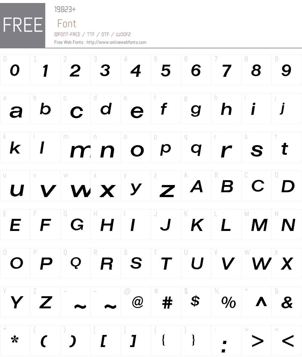 Folio BQ Font Screenshots